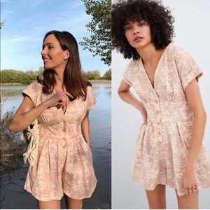 Zara printed rustic jumpsuit